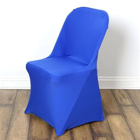 sleek spandex folding chair cover royal blue efavormart