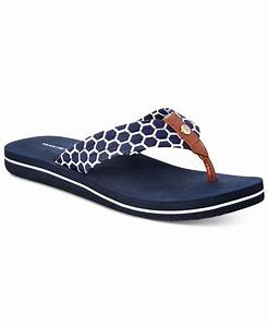 d50ce2459e2a tommy hilfiger tommy hilfger cadeen flip flop sandals in blue marine blue  save 14 lyst