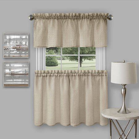 valance curtains walmart richmond window kitchen curtain tier pair and valance set
