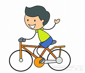 Bicycle Clipart Clipart- stick-figure-boy-cycling ...