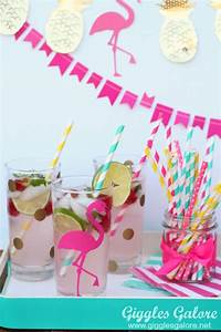 Pink Flamingo Party Cups Giggles Galore