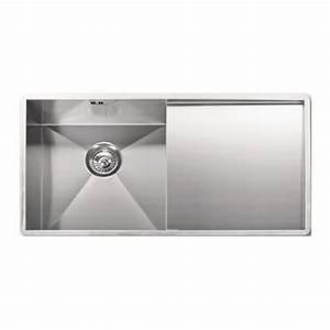 Evier Inox Brossé : evier inox egouttoir droite 40x40cm design pour cuisine ~ Premium-room.com Idées de Décoration