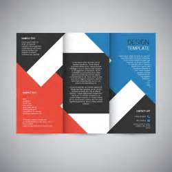 leaflet design trifold brochure design vector free