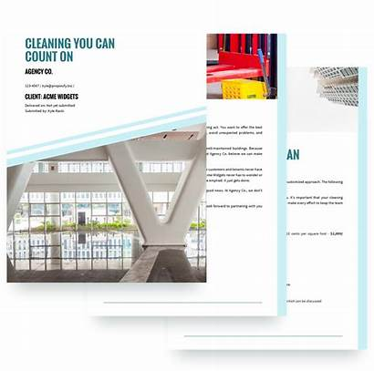 Proposal Cleaning Template Services Service Templates Sample