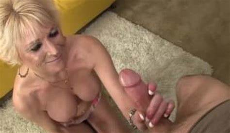 Orally Pleasured Gilf Swallows Immense Meat