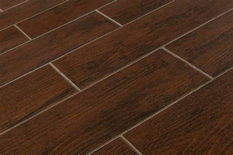 porcelain hardwood tile salerno porcelain tile timber stone collection hd mahogany 6 quot x24 quot matte