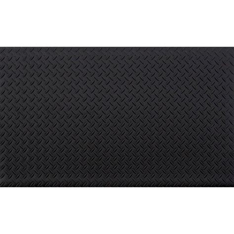 home depot flooring foam trafficmaster black 24 in x 36 in anti fatigue vinyl foam commercial mat 60 571 0900 20000300