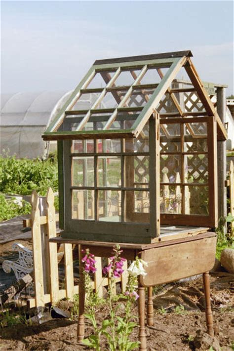 how to make a mini greenhouse from windows step by