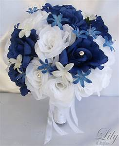 17 Pieces Package Silk Flower Wedding Bouquets Decoration
