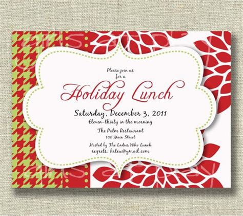 employee holiday luncheon invitation template invitation luncheon open house by girlsatplay decor