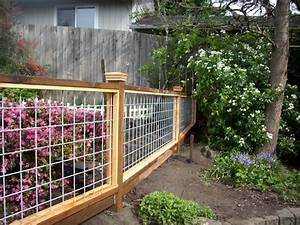 Hog Panel garden fence Deck Masters, llc - Portland, OR