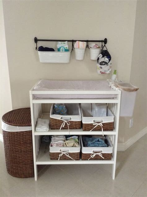 changing table organization ideas 17 best ideas about changing table storage on pinterest
