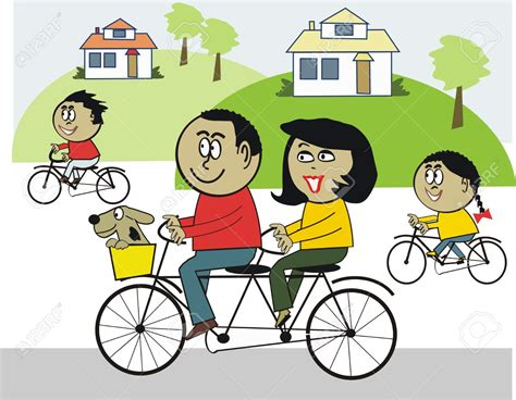 family bike clipart   cliparts  images