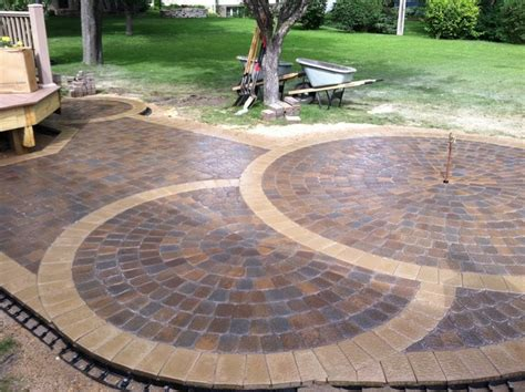 brick paver patterns cool patio deck designs grezu