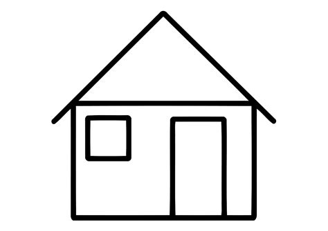 house coloring pages    print