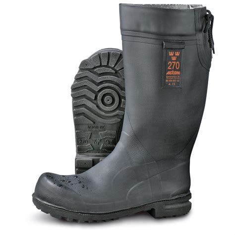 mens  swedish military rubber boots black