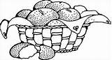 Sourdough Coloring Drawing Variations Many Simple Basket Clipart Clip Bread sketch template