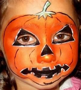Visage Citrouille Halloween : maquillage visage citrouille pour halloween solution ~ Nature-et-papiers.com Idées de Décoration