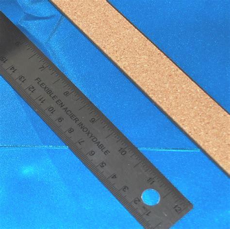 cork back 12 inch 30 cm stainless steel ruler no slip cork backing for straight edge scoring glass