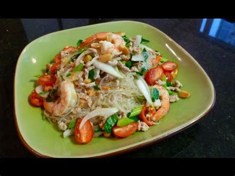 sen cuisine glass noodle salad recipe yum woon sen ยำว นเส น