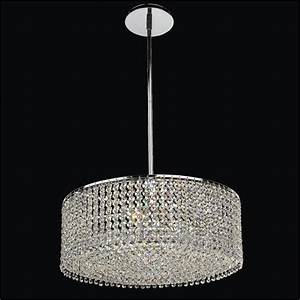 Drum shape crystal pendant chandelier urban chic