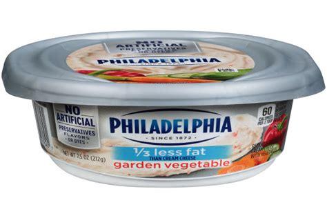 philadelphia garden vegetable   fat cream cheese