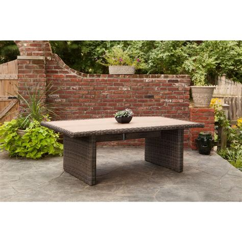 brown northshore rectangular patio dining table