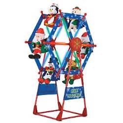 simply christmas 7 ft ferris wheel w spotlight seasonal christmas outdoor decor