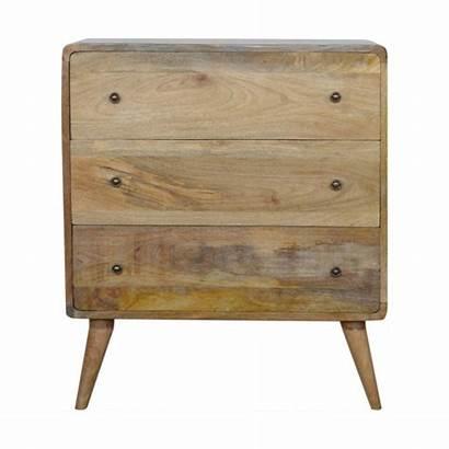 Artisan Drawers Chest Solid Boutique Furniture Curved