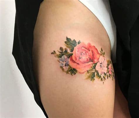 sexy thigh tattoos  women cute designs  ideas  guide