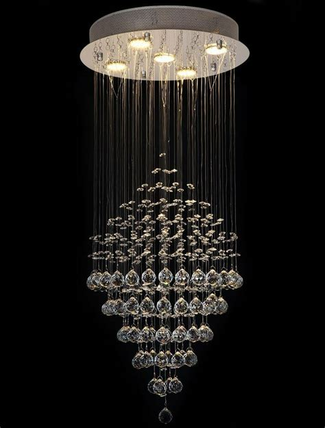 drop chandeliers glass drop 5 light ceiling fixtures