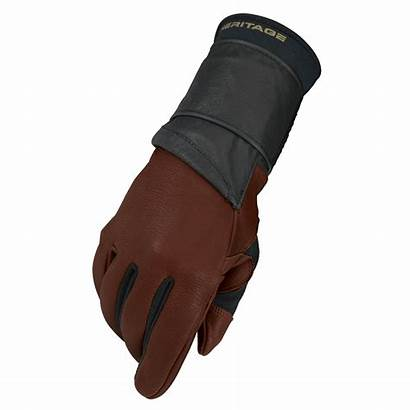 Riding Bull Glove Gloves Pro Brown Rodeo