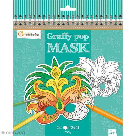 kit cuisine pas cher masques à colorier et découper carnaval de 24