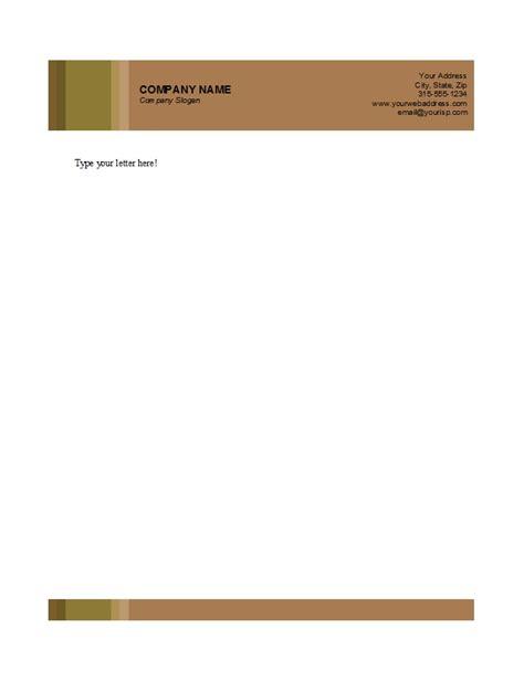 letterhead templates businessprofessional  format