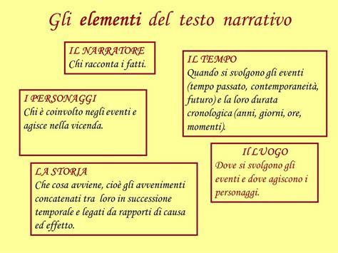 schema testo narrativo la struttura testo narrativo ppt scaricare