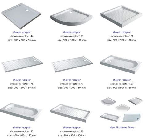 Shower Receptor Shower Receptor Contemporary Shower Enclosures Kits