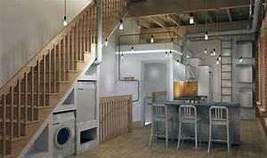 Lave Linge Petit Espace : meuble machine laver pour un coin buanderie pratique ~ Premium-room.com Idées de Décoration