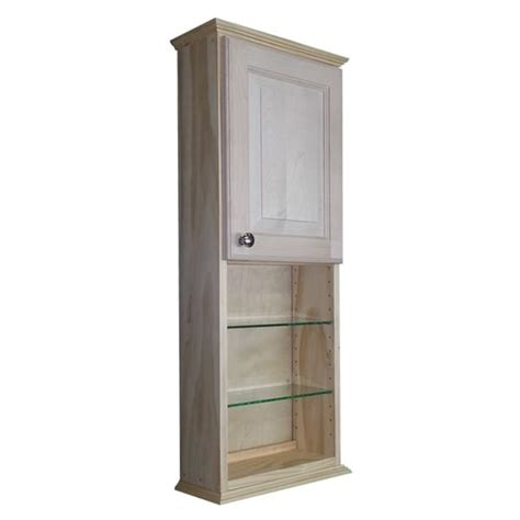 unfinished wood bathroom wall cabinets series 48x7 25 inch unfinished wood wall cabinet