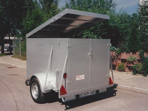 pkw kofferanhänger gebraucht pkw anh 196 nger 187 kufer fahrzeugbau kg starnberg