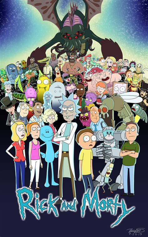 rick and morty fans rick and morty fan poster by 3frogboy on deviantart
