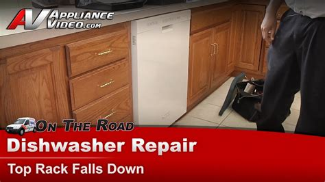 dishwasher repair top rack supports rollers whirlpool