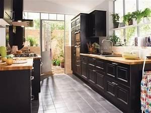 les 25 meilleures idees de la categorie cuisine rustique With ordinary meuble style campagne chic 0 cuisine noire style bistrot cuisine pinterest