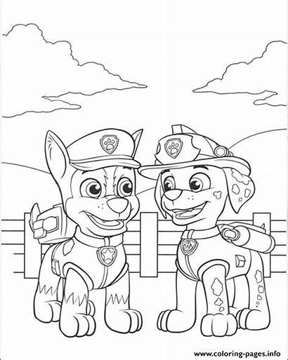 Patrol Chase Coloring Marshall Paw Pages Talking