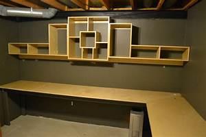 Bryan's Site Basement Office Shelf