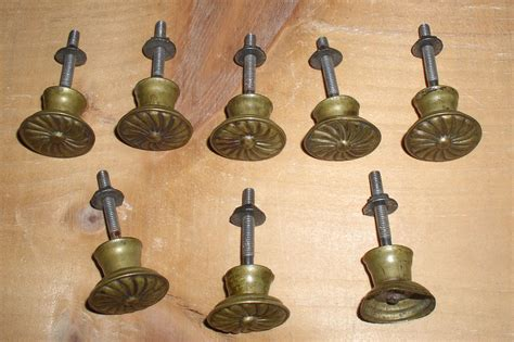 Antique Spool Cabinet Knobs by Lot 8 Vintage Spool Cabinet Drawer Pulls Knobs Thingery