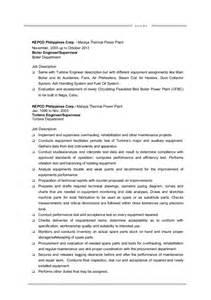 power plant mechanical engineer resume mm guanzon cv maintenance engineer