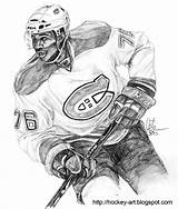 Coloring Montreal Canadiens Goalie Hockey Sketch Larger Credit sketch template