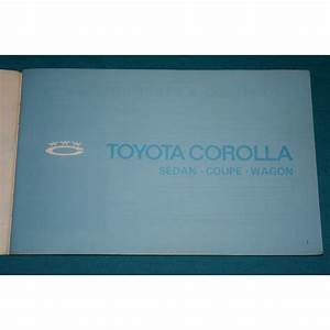 Original 1971 Toyota Corolla Owners Manual