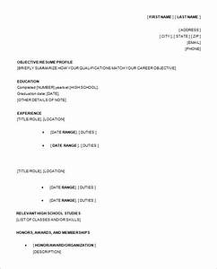 13 high school resume templates pdf doc free for First resume for high school student