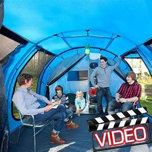 Tunnelzelt 3 Personen : skandika torino 4 personen familien tunnelzelt blau neu ~ Jslefanu.com Haus und Dekorationen